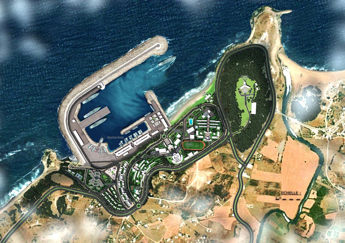 5éme Base Navale : La Nouvelle Base Navale de Ksar Sghir - Page 12 Base-navale
